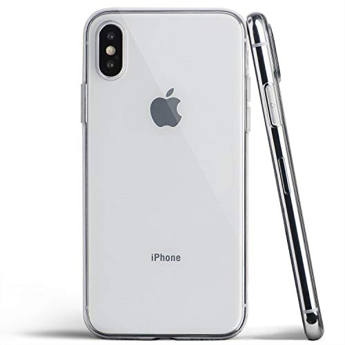 totallee Clear iPhone Xs Case, Thin Cover Ultra Slim Minimal - for Apple iPhone Xs (2018) (Transparent)