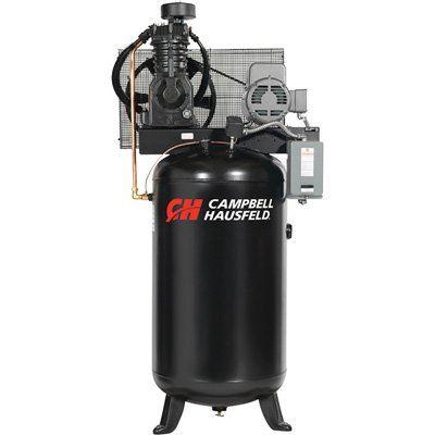 Campbell Hausfeld Air Compressor, 80-Gallon Vertical Two-Stage 17.2CFM 5HP 208-230/460V 3PH (CE7051) by Campbell Hausfeld