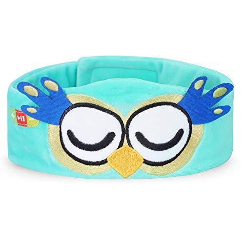 FYY Wireless Kids Headphones Ultra Thin Speakers Easy Adjustable Soft Fleece Headband Headphones for Children Owl