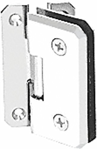 C.R. LAURENCE M0N054WC CRL White Monaco 054 Series Wall Mount Offset Back Plate Hinge ()