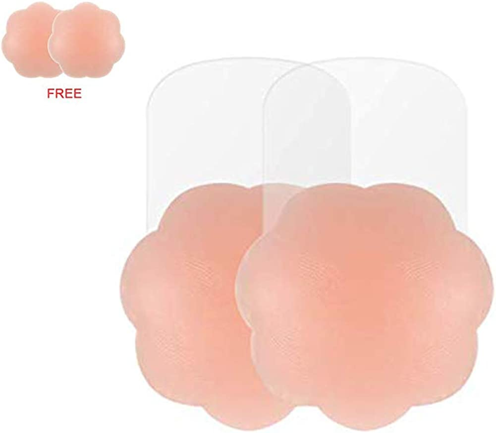 Reusable Lift Pasties for Women Invisible Silicone Nippleless Covers Strapless Sticky Bra Adhesive Lift Nipple Covers