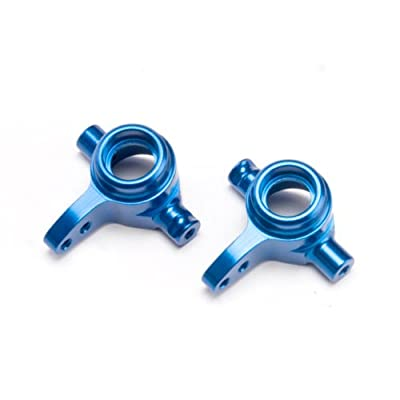 Traxxas 6837X Blue-Anodized 6061-T6 Aluminum Left and Right Steering Blocks: Toys & Games