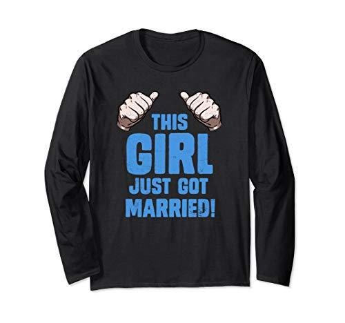 - Just Married Long Sleeve Shirt This Girl Honeymoon Art Gift