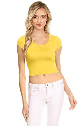 Womens Basic Short Sleeve Scoop