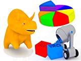 Learn colors with Dino The Dinosaur: The Concrete Mixer / The Rainbow Cake