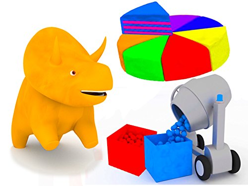 Learn colors with Dino The Dinosaur: The Concrete Mixer/The Rainbow Cake