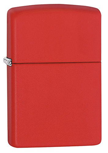 Personalized Customized Message Engraved Zippo Matte Colors Pocket Lighter Indoor Outdoor Windproof - Zippo Red Matte