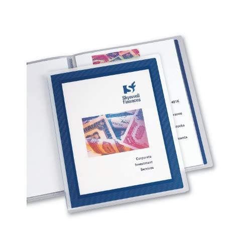 12-Page Book 47692 Avery Flexi-View Presentation Book Blue