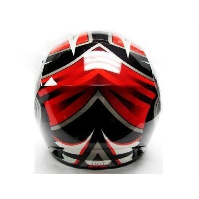 TMS Adult Tms RED Black Dirt Bike ATV Motocross Helmet Off-road (Extra Large) by TMS