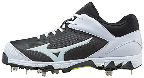 Mizuno Women's 9-Spike Swift 5 Metal Softball Cleats - Black & White (Women's Size 9) - Mizuno Womens 9 Spike