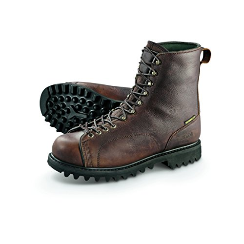 Guide Gear Men's Leather Lace-To-Toe Hunting Boots Waterproof, Brown, 10.5 2E