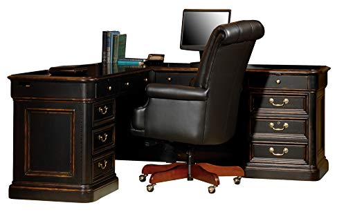 Hekman Louis Phillipe L-Shaped - Wood Hekman Executive Desk