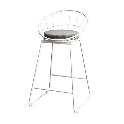 MS Iron Bar Stools,Modern Bar Chair, Cloth Mat and Wrought Iron Scaffolding,