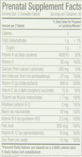 Bellybar Chewable Prenatal Vitamins, Mixed Fruit Flavor, 60-Count - 41U 2BjqNF4uL - Bellybar Chewable Prenatal Vitamins, Mixed Fruit Flavor, 60-Count