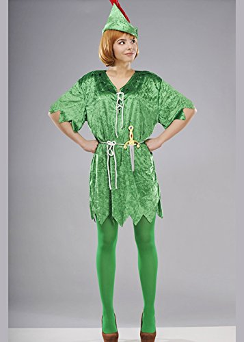 Disfraz Peter Pan Adulto Damas Medium (UK 12-14): Amazon.es ...