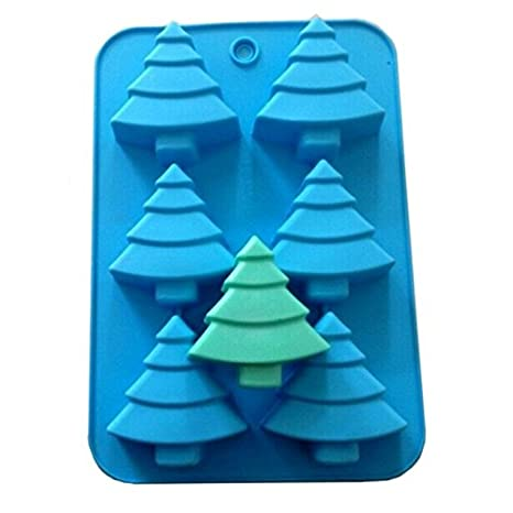 Polymer Clay Christmas Tree.Allforhome Tm 6 Christmas Tree Silicone Soap Mold Pine Muffin Cups Handmade Soap Polymer Clay Molds Jelly Biscuit Craft Art Diy Molds