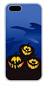 iPhone 5 5S Case Three Silly Halloween Pumpkins754 PC Custom iPhone 5 5S Case Cover White