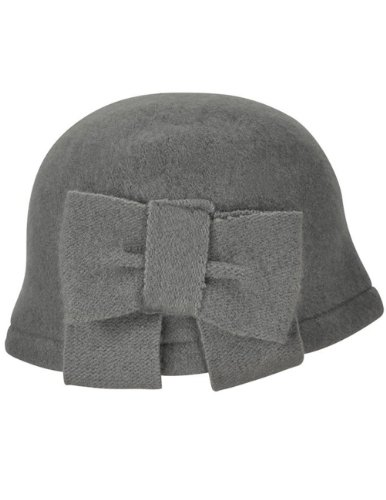 41dc0b7faac Dahlia Women s Vintage Large Bow Wool Cloche Bucket Hat - Light Gray - Buy  Online in UAE.