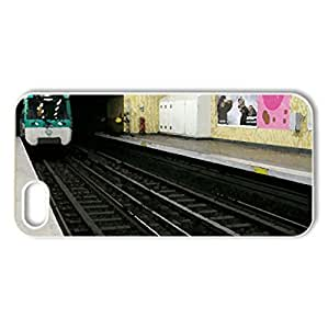 metro - Case Cover for iPhone 5 and 5S (Modern Series, Watercolor style, White)