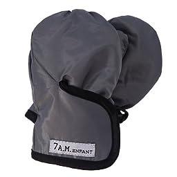 7AM Enfant Classic Mittens 500, Gray/Black, X Large