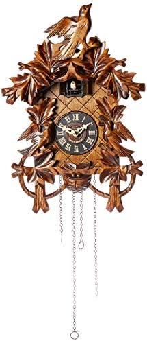 Alexander Taron 635QM Engstler Battery-Operated Cuckoo Clock-Full Size-14 H x 10 W x 6 D, Brown