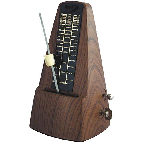 Traditional Mechanical Metronome, Triangle Pyramid Metronome with Bell Ring, Tempo 40-208 Bpm
