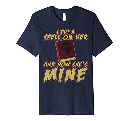 Mens I Put A Spell On Her and Now She's Mine Halloween tshirt Small (Halloween Cast Now)