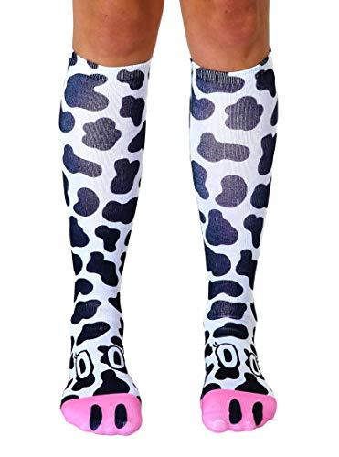 Cow Print Socks - Cow Knee High Socks by Living Royal