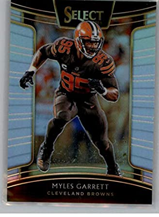 2018 Select Silver Prizm Football  32 Myles Garrett Cleveland Browns  Concourse Official NFL Trading Card 82c0ef8b4