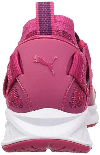 PUMA Kids' Ignite Evoknit Lo Jr Sneaker,Love Potion White,4 M US Big Kid by PUMA (Image #3)'