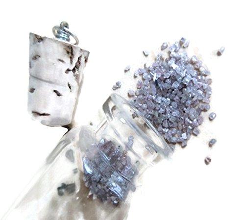 10 Carat Pink Rough Diamond Dust, 1mm Size, Bottle Jewelry, Natural Diamond Pendant, Glass Vial Pendant by GemsDiamondsbySHIKHA