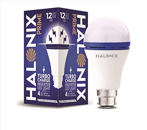 Halonix 12 Watts b22d LED White Emergency Inverter Bulb, Pack of 1, (F2JMM6FP9009U00)