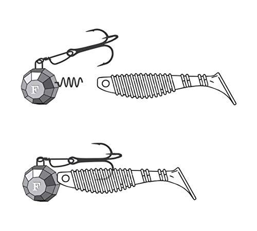 FANATIK Jig Heads Cheburashka Screw 5-35g Fishing Lures (Red, 28 gr - 0 99  oz - 3 pcs)