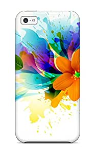 New Premium YeNBH1474tIxnL Case Cover For Iphone 5c/ Bright Flowers Protective Case Cover
