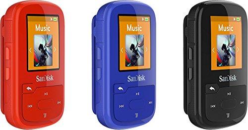 SanDisk SDMX28-016G-G46K Clip Sport Plus MP3 Player, 16GB (Black) (Certified Refurbished)