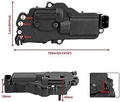 OEM: 1F7058350, 1F8058350, 3L3Z25218A42AA, 6L3Z25218A42AA, F81Z25218A42AA, F88Z16219A64BB, XF2Z218A42DA, ZZR058350 AUXMART Universal Door Lock Actuator 12-Volt Motor Central Lock Black