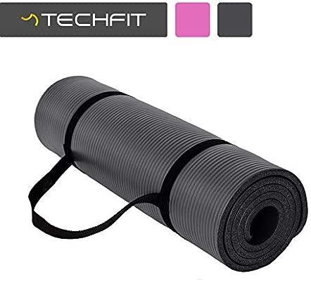 TechFit Colchón para Yoga y Fitness, Espesor Extra, 180 x 60 cm, Ideal para Ejercicios en el Suelo, Gimnasia, Camping, Estiramientos, Abdómenes, ...