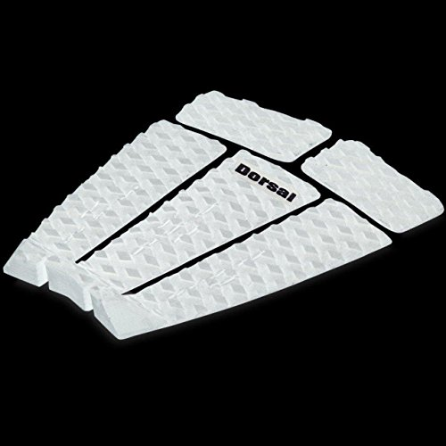 DORSAL 5 Peice Surfboard Traction Pads with Tail Block White / Standard por DORSAL®