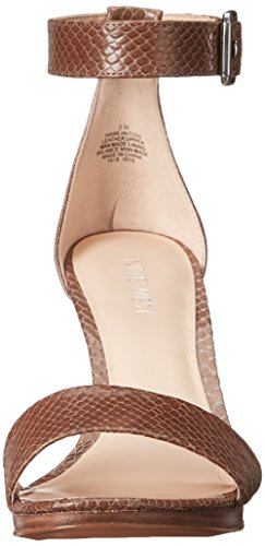 Nine West Meantobe de cuero de tacón de la sandalia Light Grey Leather