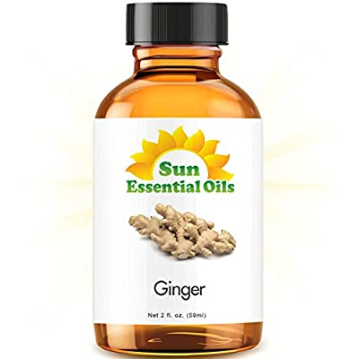 Ginger (2 fl oz) Best Essential Oil - 2 ounces (59ml) by Sun Organic