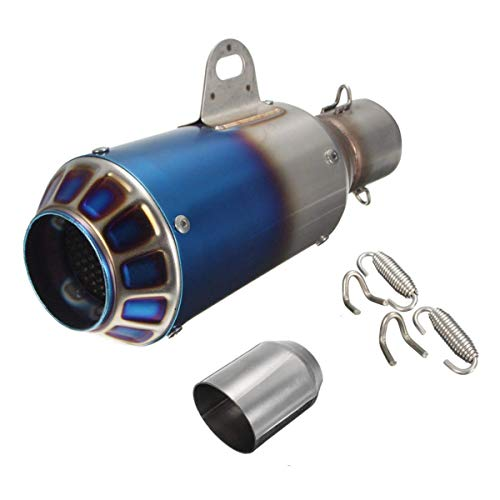 38-51mm Motorcycle GP Exhaust Muffler Pipe Silencer End Slip-On Stainless Steel - Body & Frame Exhaust Systems & Muffler Parts - (#3) - 1 X Exhaust Pipe with Some Accessori]()