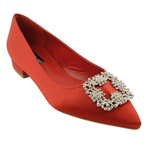 para Exclusif Rojo Bailarinas Paris Mujer qrwrREI