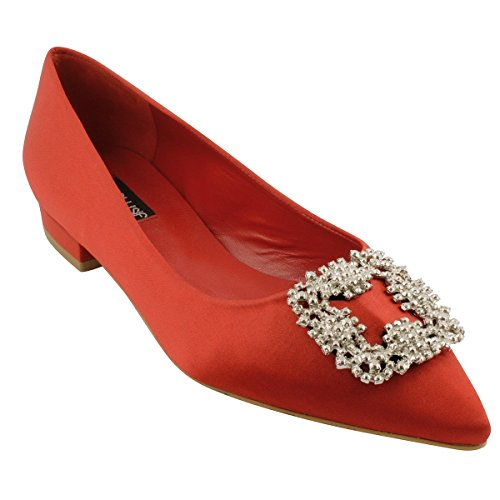 Women's Ballet Red Paris Exclusif Flats 756w4Ayx