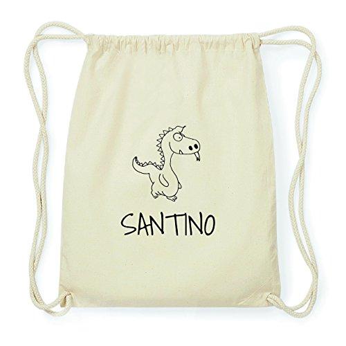 JOllipets SANTINO Hipster Turnbeutel Tasche Rucksack aus Baumwolle Design: Drache