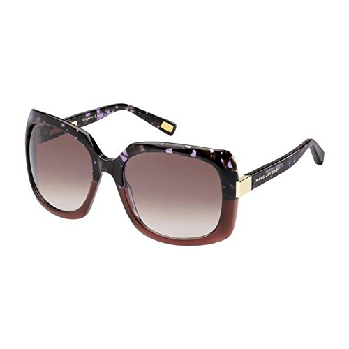 (Marc Jacobs MJ409/S Sunglasses-0XGZ Plum (FM Brown Violet Shaded Lens)-57mm)
