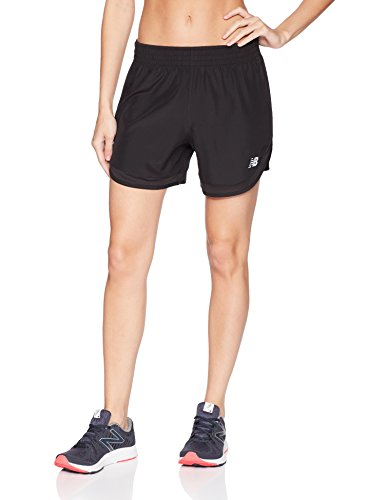 New Balance Women's Accelerate 5 inch Short Without Brief, Black, Small