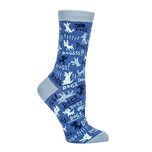 Blue Q Socks, Women's Crew, Dogs