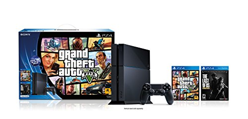 PlayStation 4 Black Friday Bundle - Grand Theft Auto V and The Last of Us Remastered 2