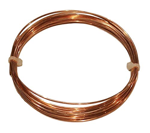 By Copper wire USA -18 Ga 25 Ft Solid Round Copper Wire Coil - Dead Soft