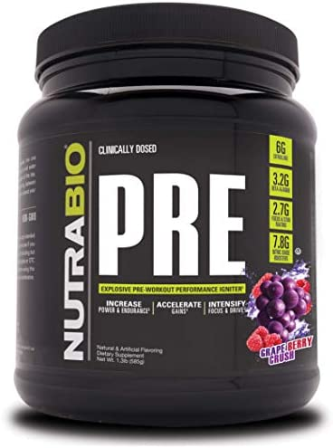NutraBio PRE Workout V5 – Grape Berry Crush